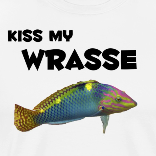 kiss my wrasse - Men's Premium T-Shirt