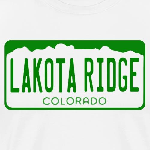 Lakota Ridge License Plate - Men's Premium T-Shirt