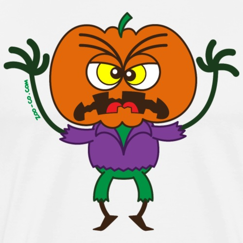 Scary Halloween Scarecrow - Men's Premium T-Shirt
