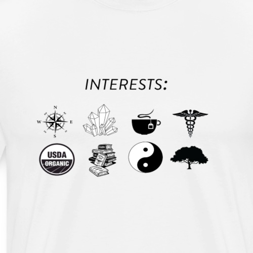 Interests (New Age) - Men's Premium T-Shirt