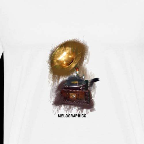 MelographicsGramophone - Men's Premium T-Shirt