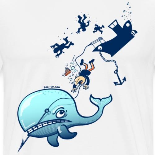 Whales are Furious - Men's Premium T-Shirt