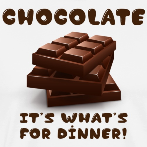 chocolate It's what's for dinner - Men's Premium T-Shirt