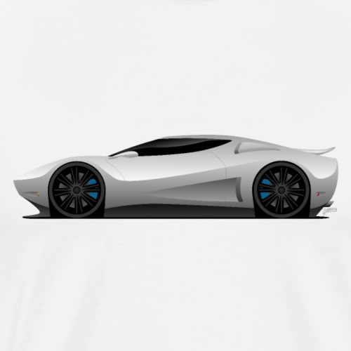 Super Car Vector Illustration - Men's Premium T-Shirt