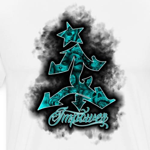 smoke skull logo design - Men's Premium T-Shirt