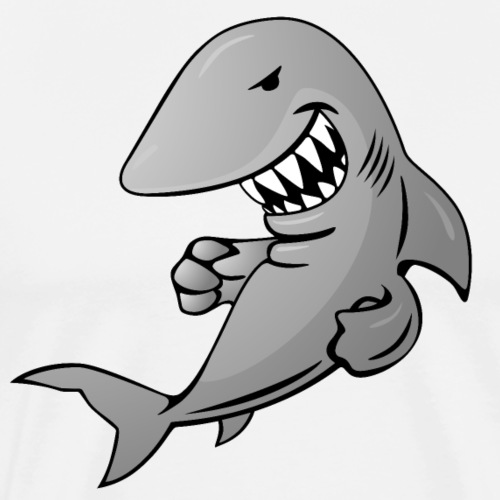 Shark Cartoon - Men's Premium T-Shirt