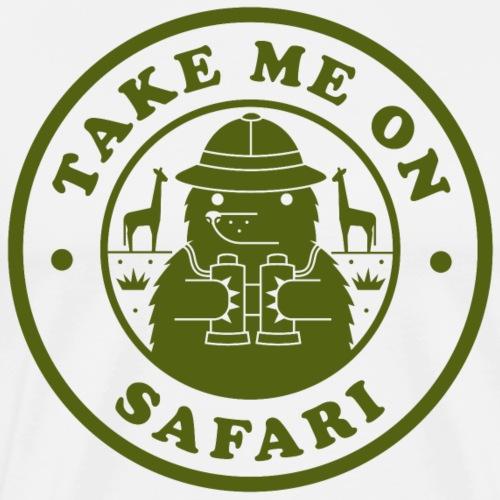 Take Me On A Safari Green png - Men's Premium T-Shirt