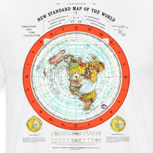 Flat Earth Map - Men's Premium T-Shirt