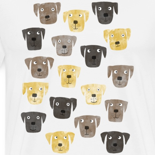Labrador Retriever Dogs - Men's Premium T-Shirt