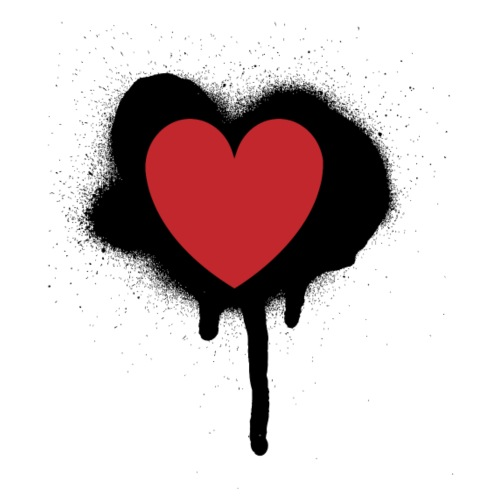 painted heart valentines day design - Men's Premium T-Shirt