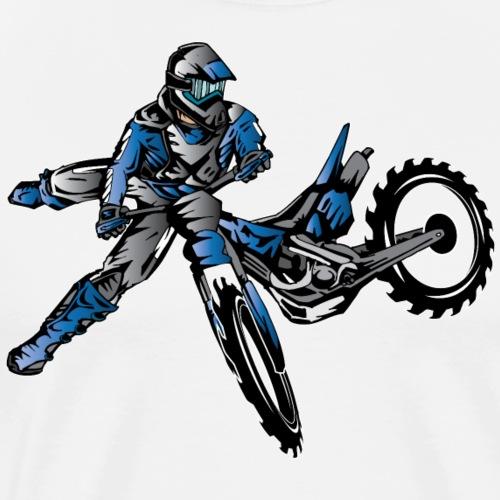 Yamaha Freestyle Dirt Bike Zip Hoodies & Jackets - Men's Premium T-Shirt