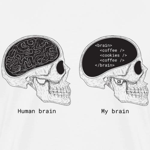Human programmer brain   Geeky   Web jokes - Men's Premium T-Shirt