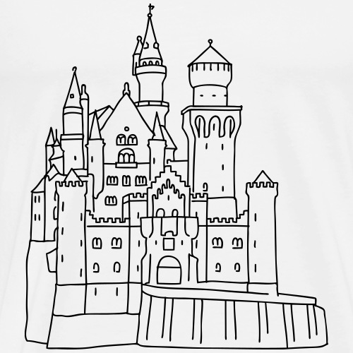 Neuschwanstein Castle - Men's Premium T-Shirt
