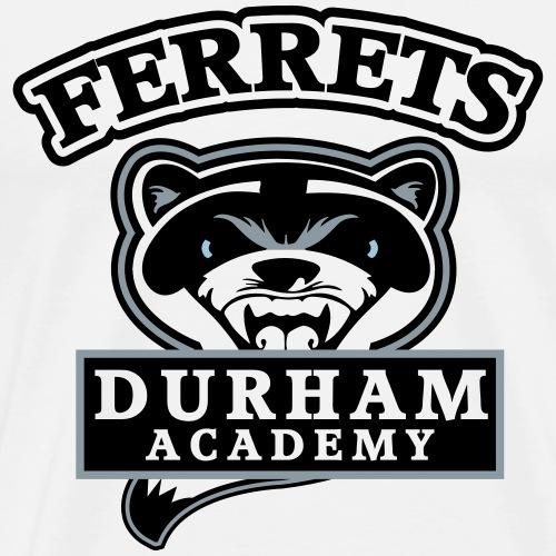 durham academy ferrets logo black - Men's Premium T-Shirt