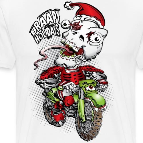 Psycho Skull Santa MotoX - Men's Premium T-Shirt