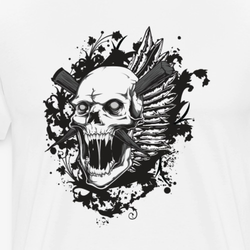 skull of death - Men's Premium T-Shirt