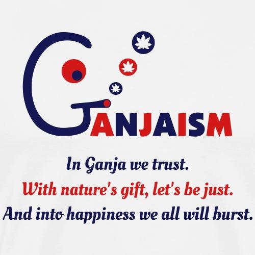 Ganjaism Poem - Men's Premium T-Shirt