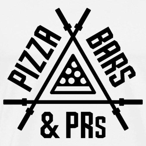 Pizza, Bars and PRs Fitness Triangle v2 - Men's Premium T-Shirt