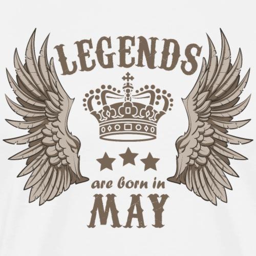 Legends are born in May - Men's Premium T-Shirt