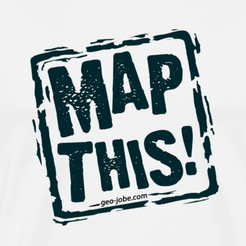 MapThis! Black Stamp Logo - Men's Premium T-Shirt