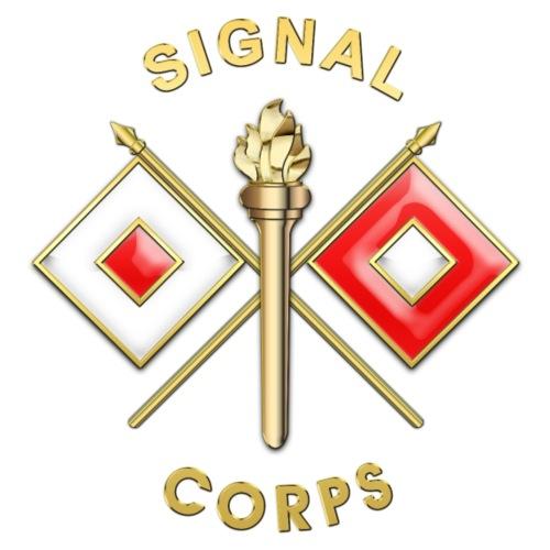 Signal Corps Branch Insignia - Men's Premium T-Shirt