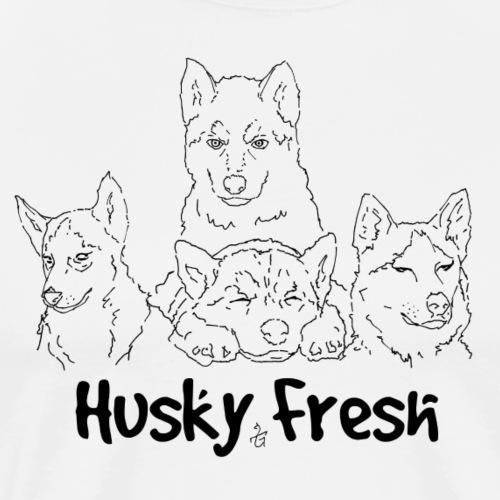 Dog Shirt   Husky Quad Fresh - Men's Premium T-Shirt