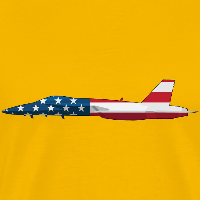 American Flag Military Jet