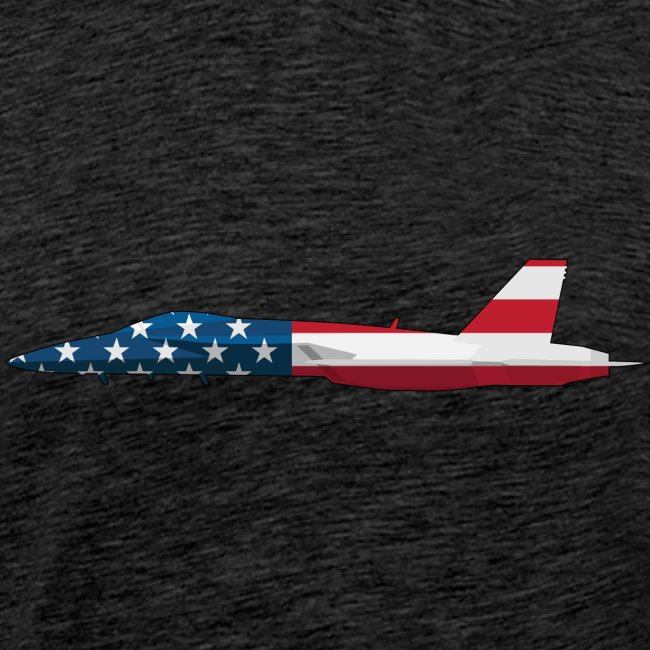 American Flag Military Jet