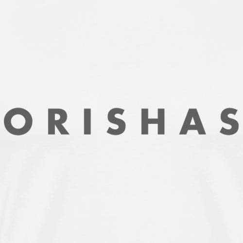 Orishas (Slim Smoke Letters) - Men's Premium T-Shirt