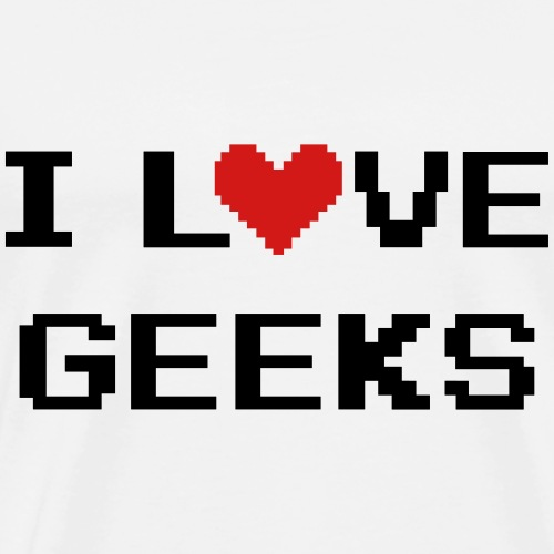 I Love Geeks - Men's Premium T-Shirt