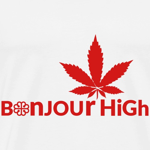 Bonjour High (Canada Red) - Men's Premium T-Shirt
