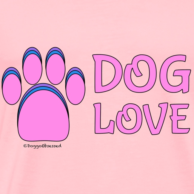 "Pink Dog paw print ""Dog Love"""