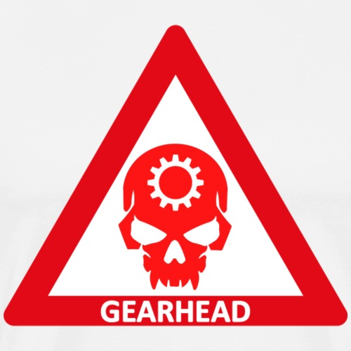 GEARHEAD WARNING SIGN - Men's Premium T-Shirt
