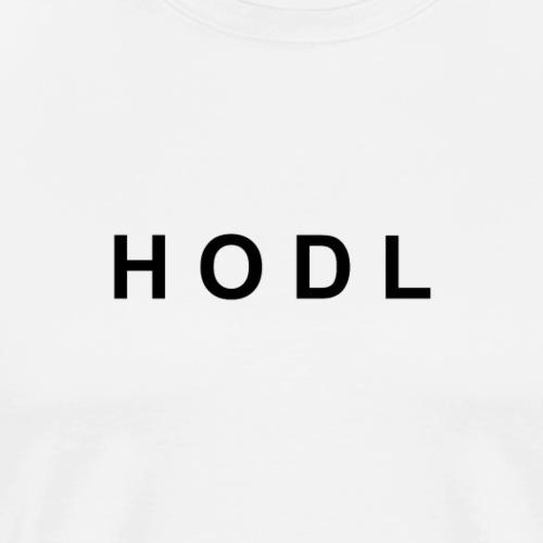 HODL black no line - Men's Premium T-Shirt