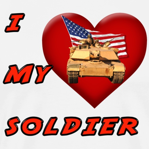 I Heart my Soldier - Men's Premium T-Shirt