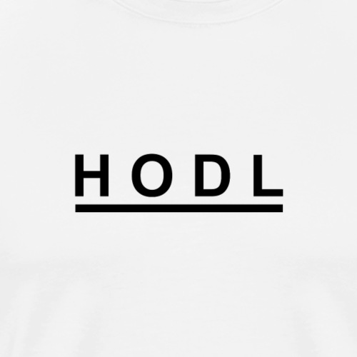 HODL Black - Men's Premium T-Shirt