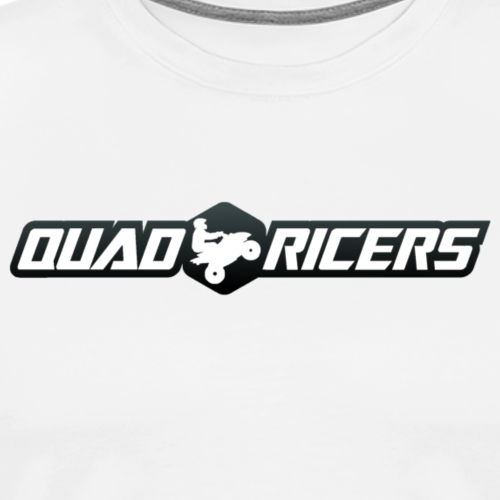 Quad Ricers White & Gray T-Shirt - Men's Premium T-Shirt