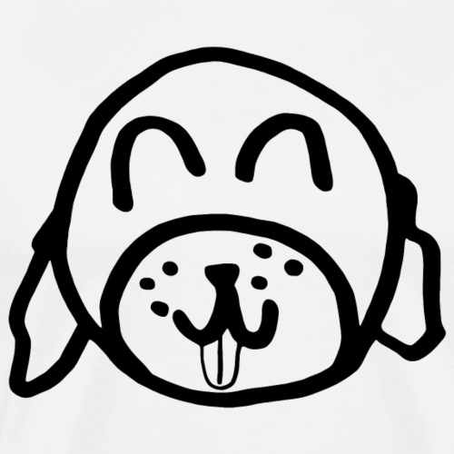 Alina Can Walk Your Dog (black outline) - Men's Premium T-Shirt