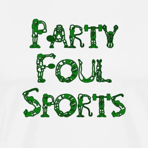 Party Foul Sports Sports Font - Men's Premium T-Shirt