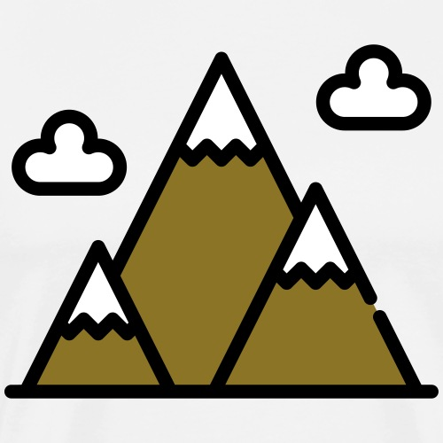 The Mountains - Men's Premium T-Shirt