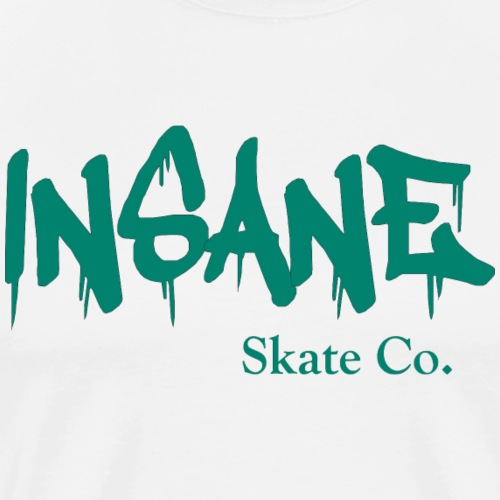 Insane teal font - Men's Premium T-Shirt