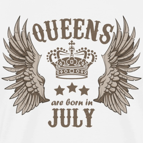 Queens are born in July - Men's Premium T-Shirt