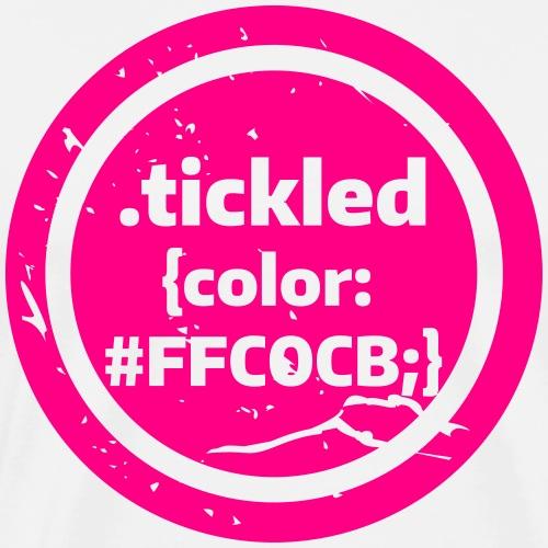 Tickled Pink (in Code) - Men's Premium T-Shirt