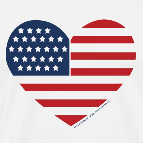Heart American Flag by Stacy's View - Men's Premium T-Shirt
