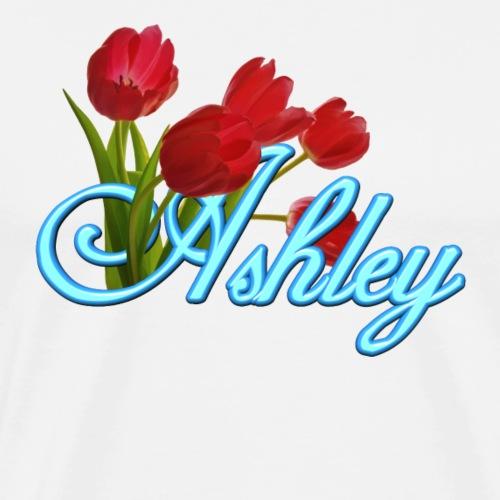 Ashley With Tulips - Men's Premium T-Shirt