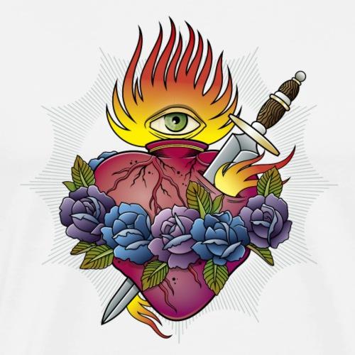 Flaming Heart - Men's Premium T-Shirt
