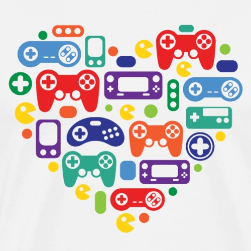 Video Game Love - Men's Premium T-Shirt