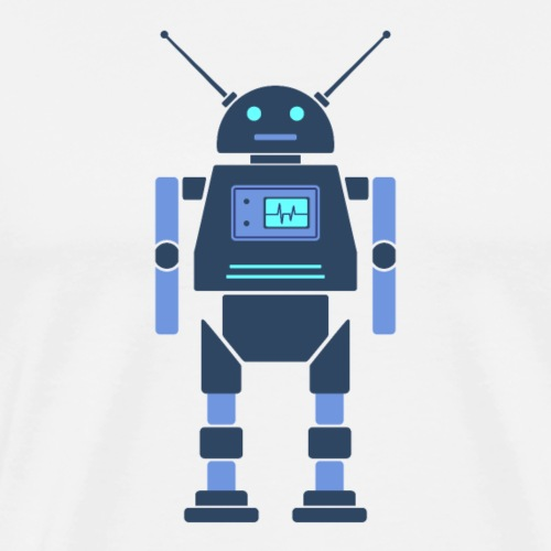Dark Blue Robot - Men's Premium T-Shirt