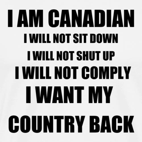 i am canadian t shirt design black txt - Men's Premium T-Shirt