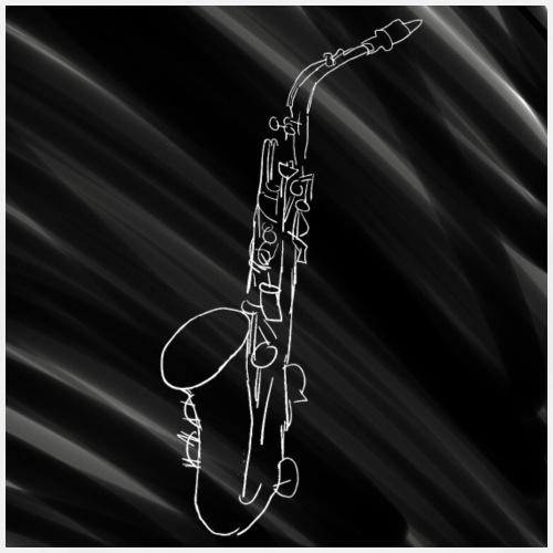 Alto Saxophone · Black & White - Men's Premium T-Shirt